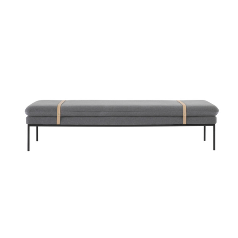 Ferm Living Daybed Wool Solid Lysgrå