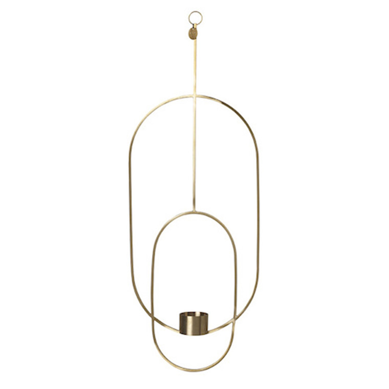 Ferm Living Hanging Tealight Deco, Oval i Messing