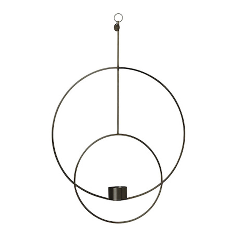 Ferm Living Hanging Tealight Deco, Rund Sort