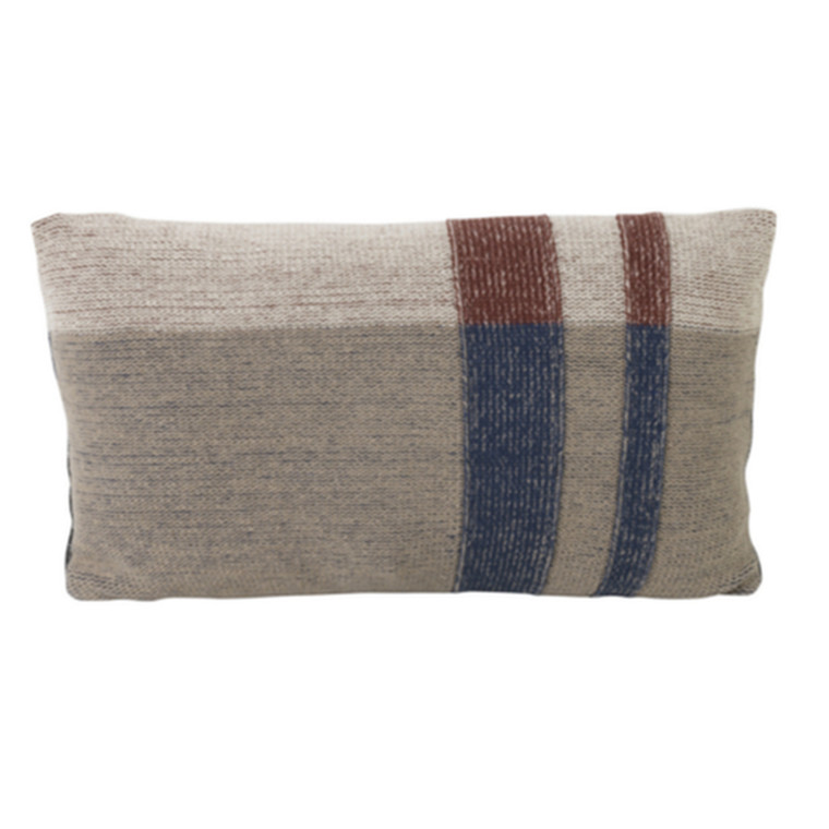 Ferm Living Pude Knit Cushion Dark Blue Lille