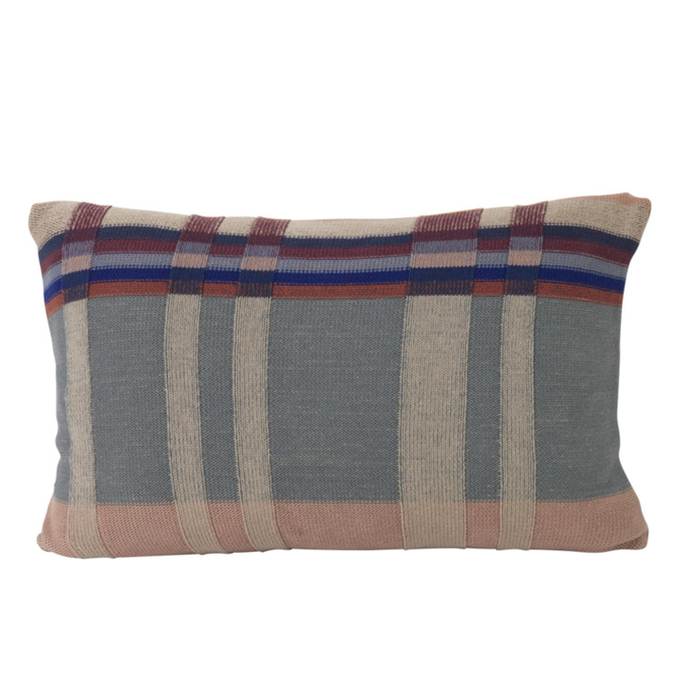 Ferm Living Pude Knit Cushion Dusty Blue Stor