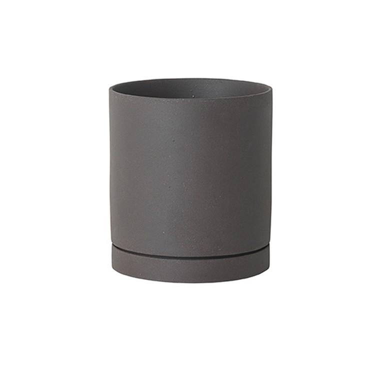 Ferm Living  Sekki Pot Charcoal Large