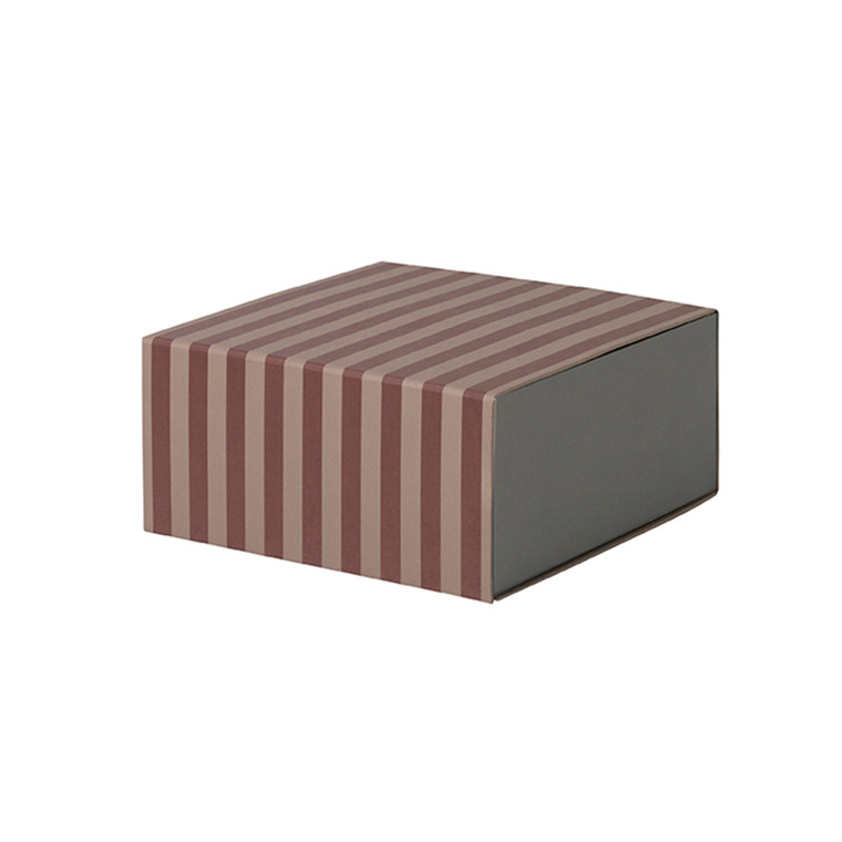 Ferm Living Striped Box - Square Bordeaux