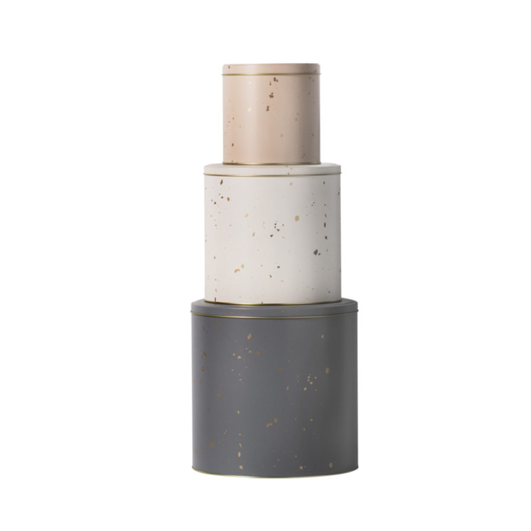 Ferm Living Tin Boxes Confetti 3 stk