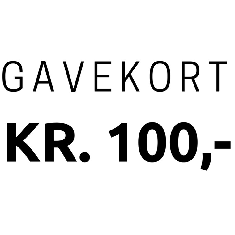 Gavekort 100,-