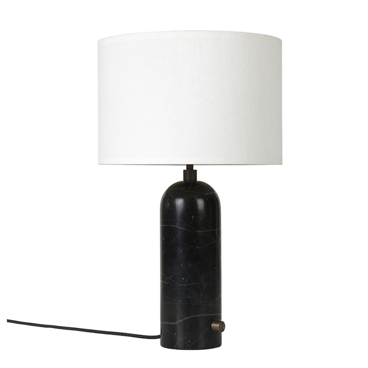 Gubi Gravity Bordlampe sort marmor