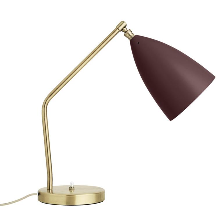 Gubi Gräshoppa Bordlampe Andorra Rød/Messing