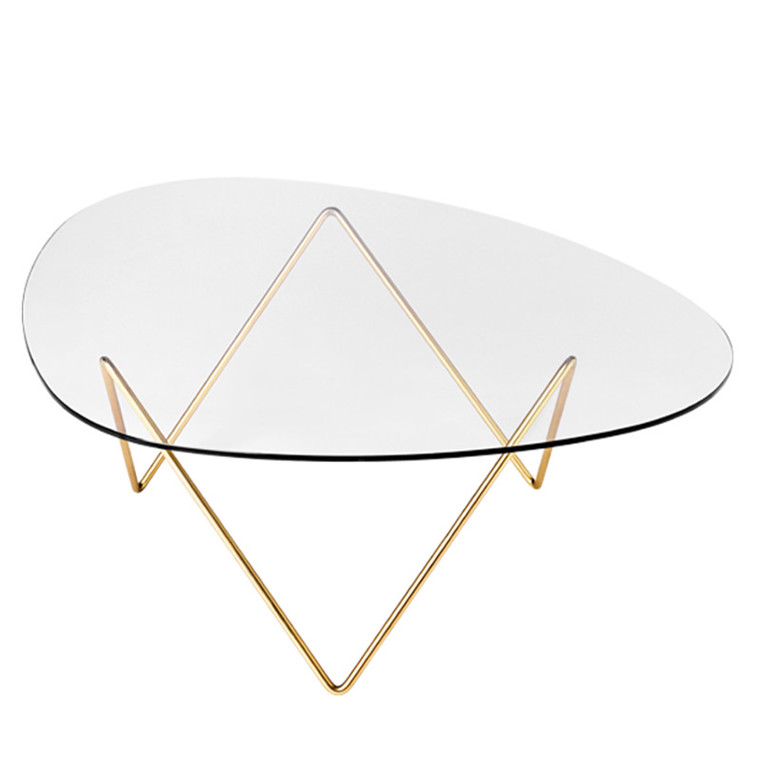 Gubi Lounge Table Pedrera Messingbelagt Stål