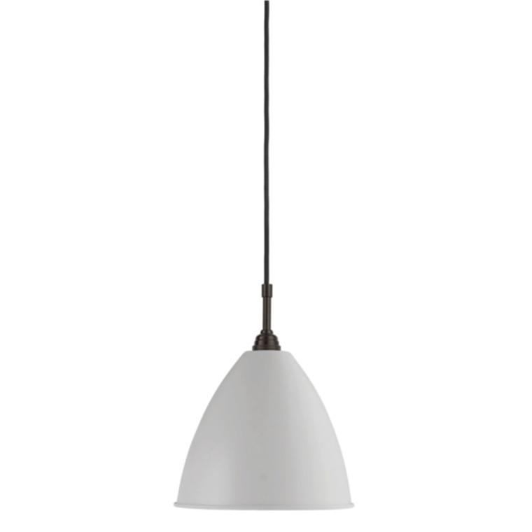 Gubi Bestlite BL9M Pendel Sort Messing / Klassisk Hvid Ø21 cm.