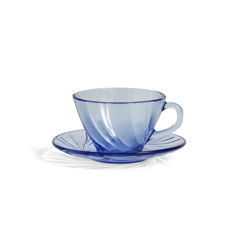 HAY French Kaffekop Med Underskål Blå