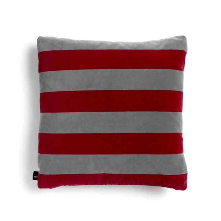 HAY Soft Stripe Pude Rød Hurtig levering