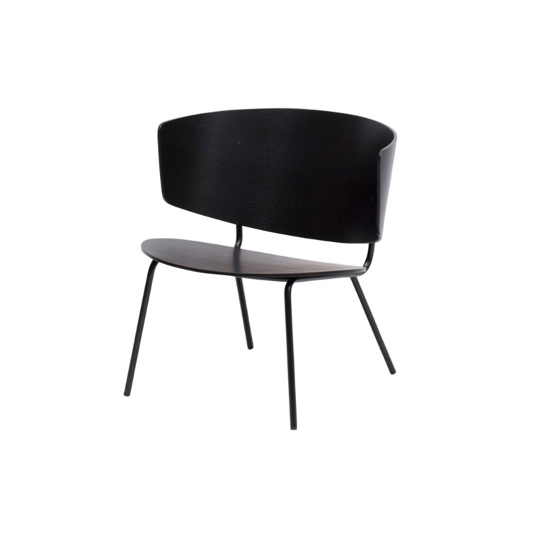 Ferm Living Herman Lounge Stol Sort