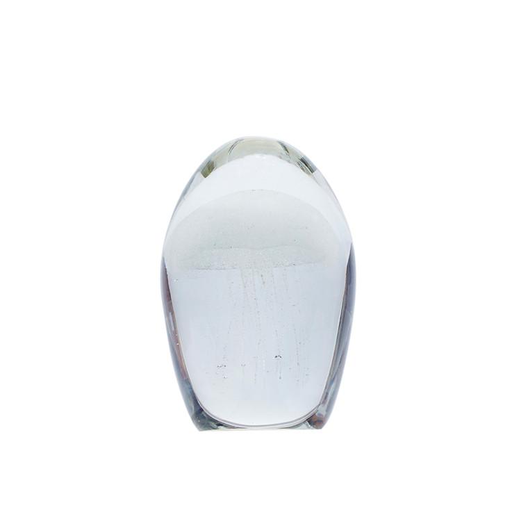 Hübsch Brevpresser glas, hvid