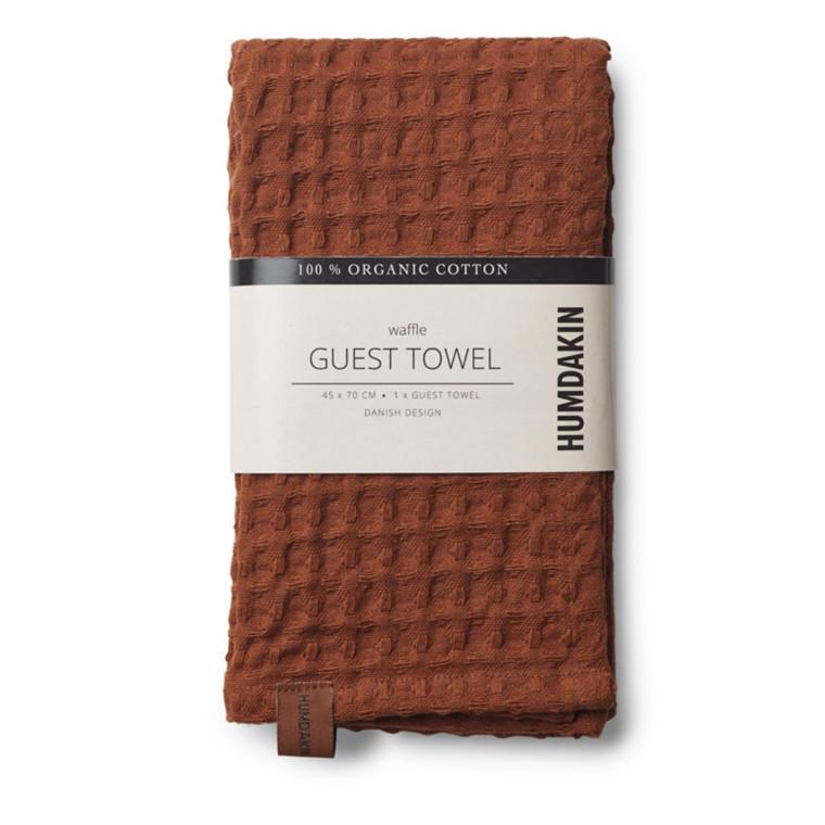 Humdakin Gæstehåndklæde Waffle Mørk brun