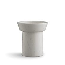 Kähler Ombria Vase lille Marmorhvid