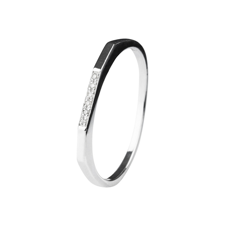 Maria Black Le Witt Diamond Ring Sølv