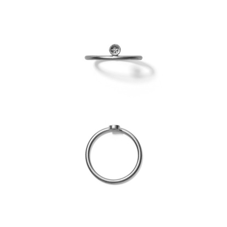 Line & Jo Miss Rcircle Ring Sølv