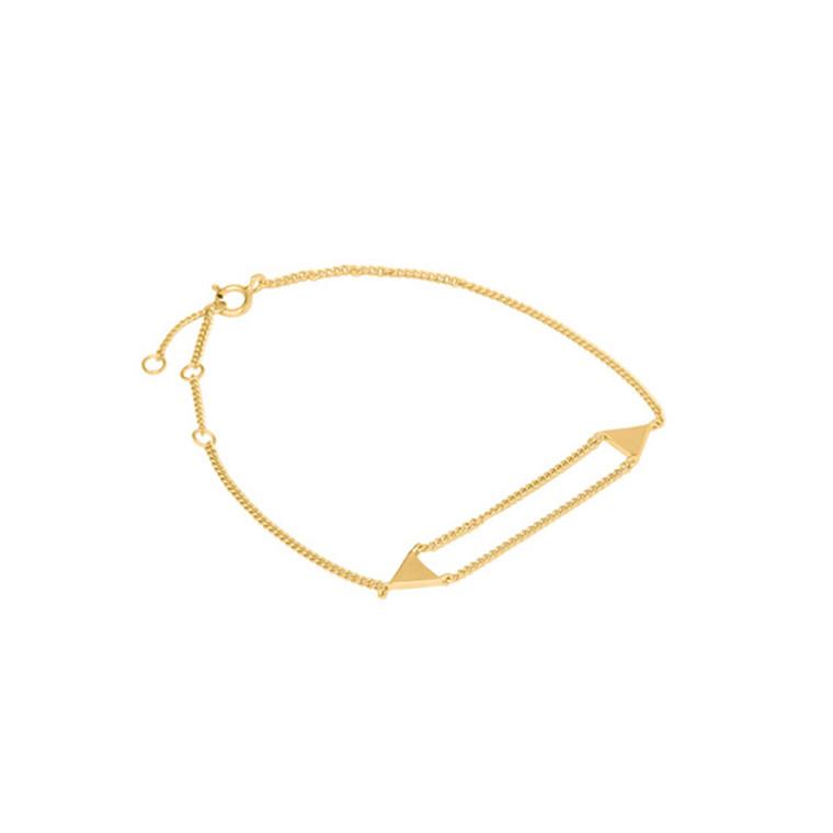 Louise Kragh Armbånd Triangle Guld