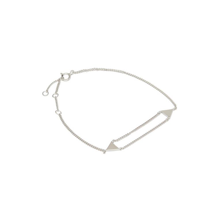 Louise Kragh Armbånd Triangle Sølv