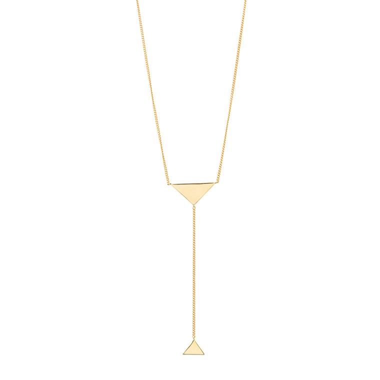 Louise Kragh Halskæde Triangle Guld