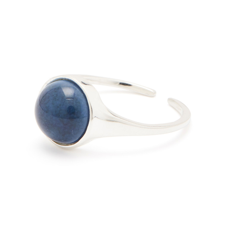Louise Kragh Ring Fall Sølv Twillight Blue