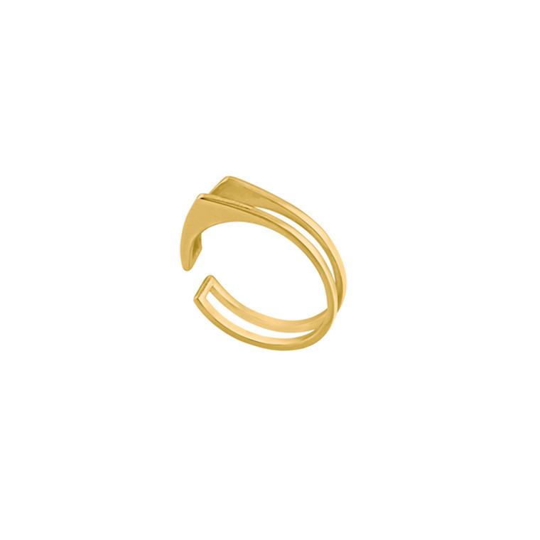 Louise Kragh Ring Triangle Guld