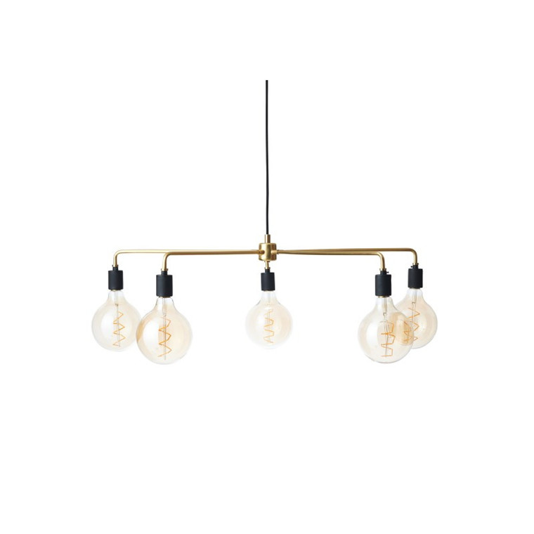 Menu Chambers Chandelier Tribeca Lampe 76 cm. Messing