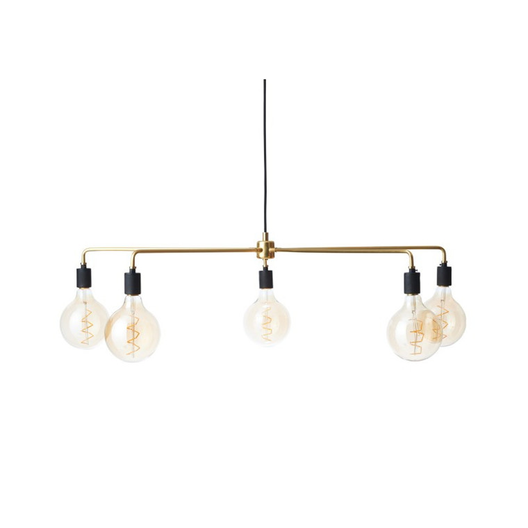 Menu Chambers Chandelier Tribeca Lampe 96 cm. Messing