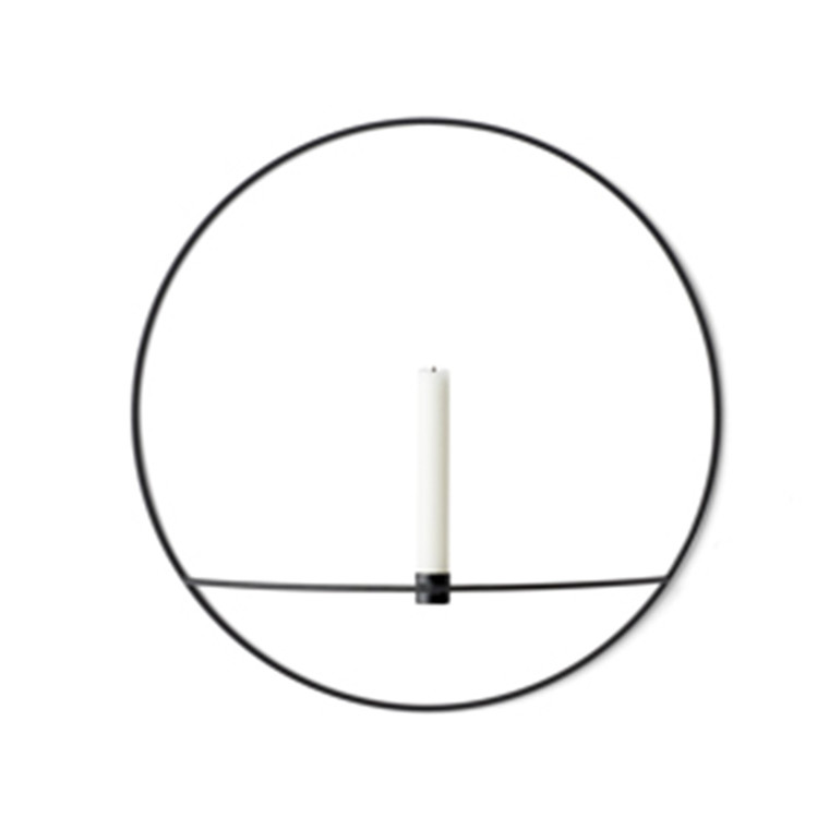 Menu POV Circle Candleholder Large, Black