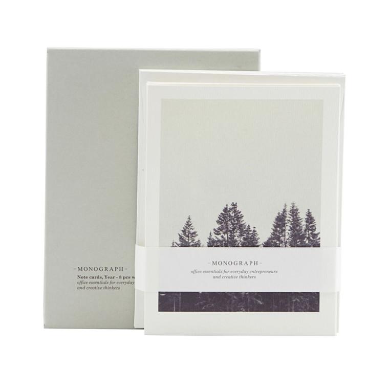 Monograph Notekort Winter 8 stk m. konvolut