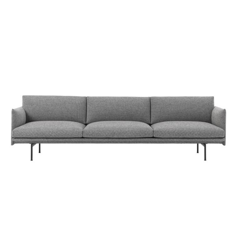 Muuto Outline Sofa 3 1/2 Personer Hallingdal 166