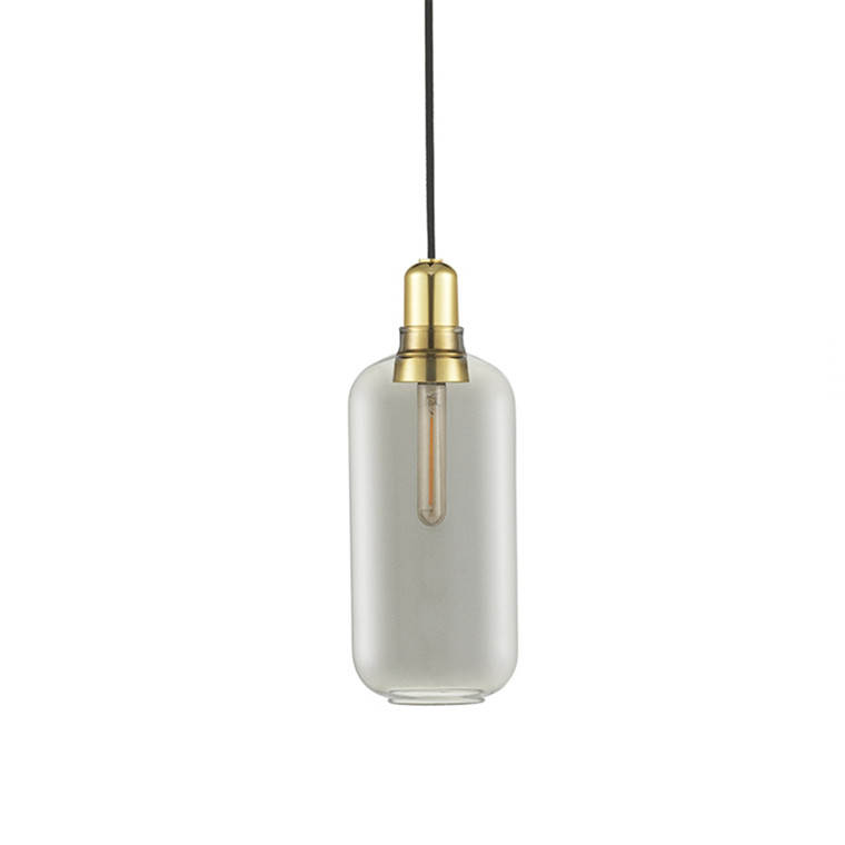 Normann Copenhagen Amp Lamp Stor, Røg/messing