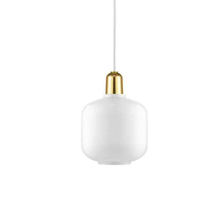 Normann Copenhagen Amp Lamp lille, Hvid/messing
