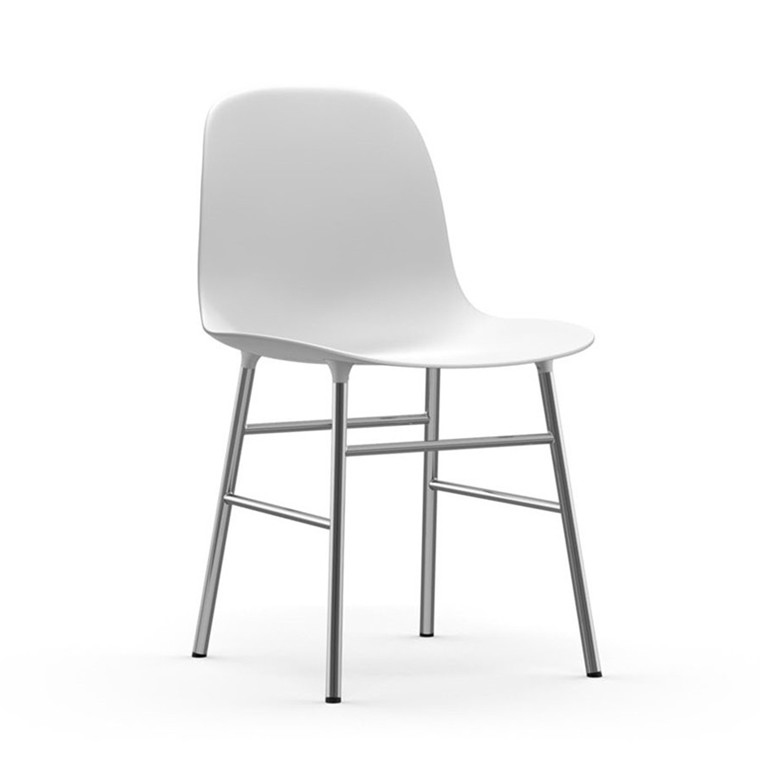 Normann Copenhagen Form Stol Hvid/Chrome