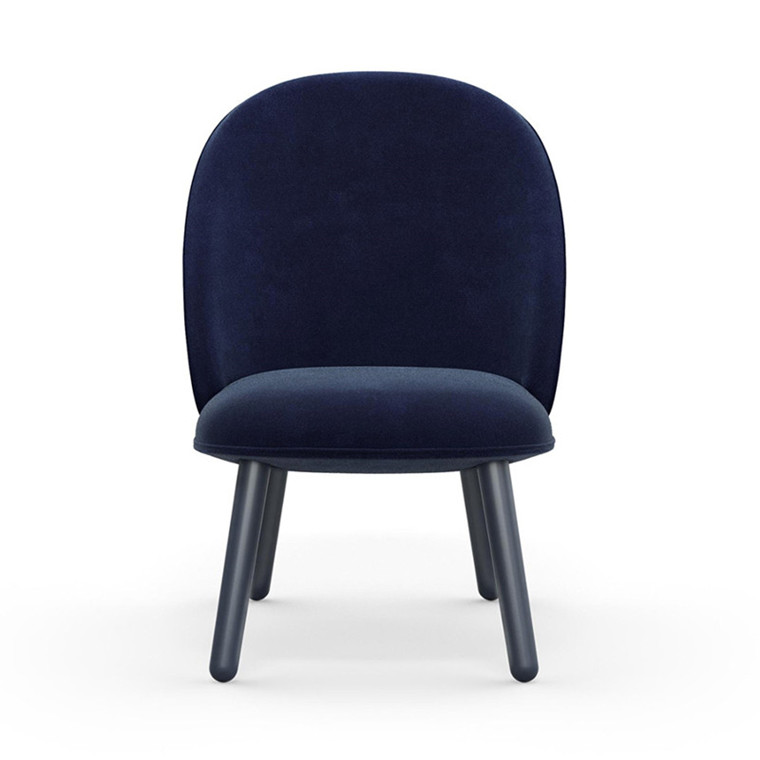 Normann Copenhagen Lounge Chair Ace Mørk Blå Velour