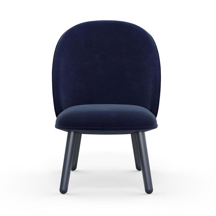 Normann Copenhagen Lounge Chair Ace Mørk Blå Velour