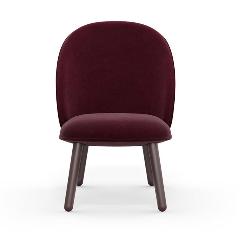 Normann Copenhagen Lounge Chair Ace Mørk Rød Velour
