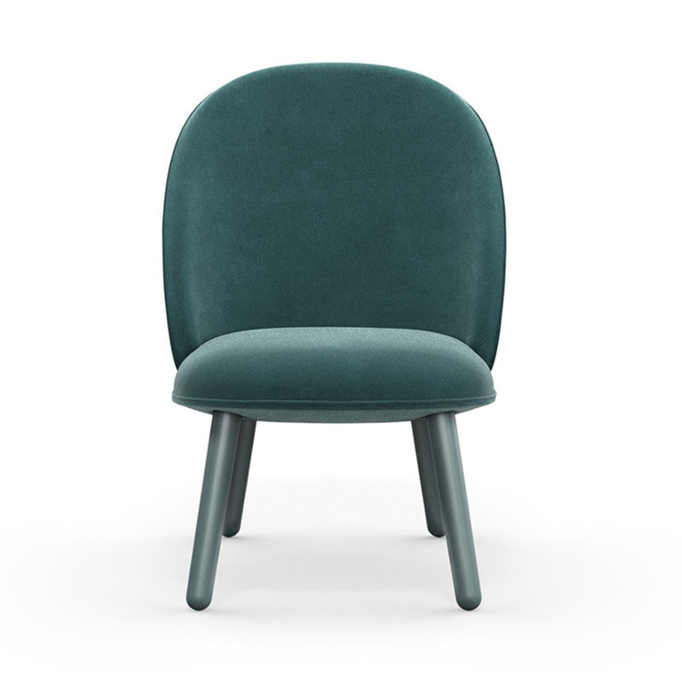 Normann Copenhagen Lounge Chair Ace Hav Blå Velour