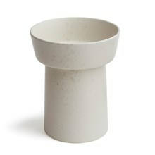 Kähler Ombria Vase Marmorhvid