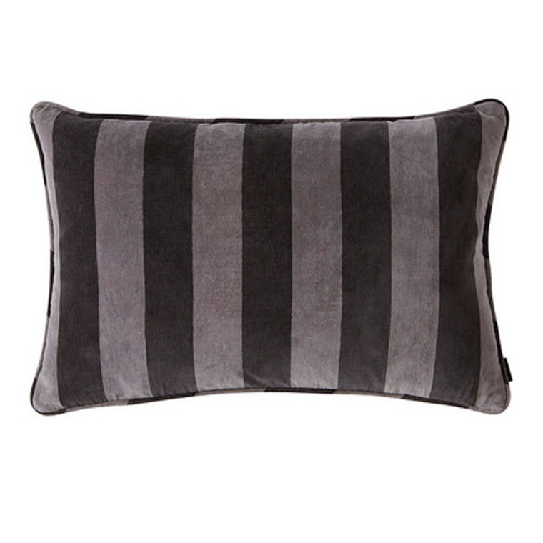 OYOY Confect Velvet Cushion Asphalt/Dark Grey