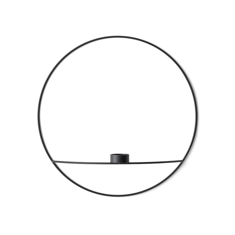 Menu POV Circle Tealight candleholder, Large Black