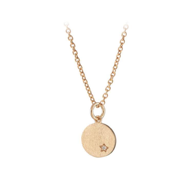 Pernille Corydon Halskæde Diamond Coin Guld