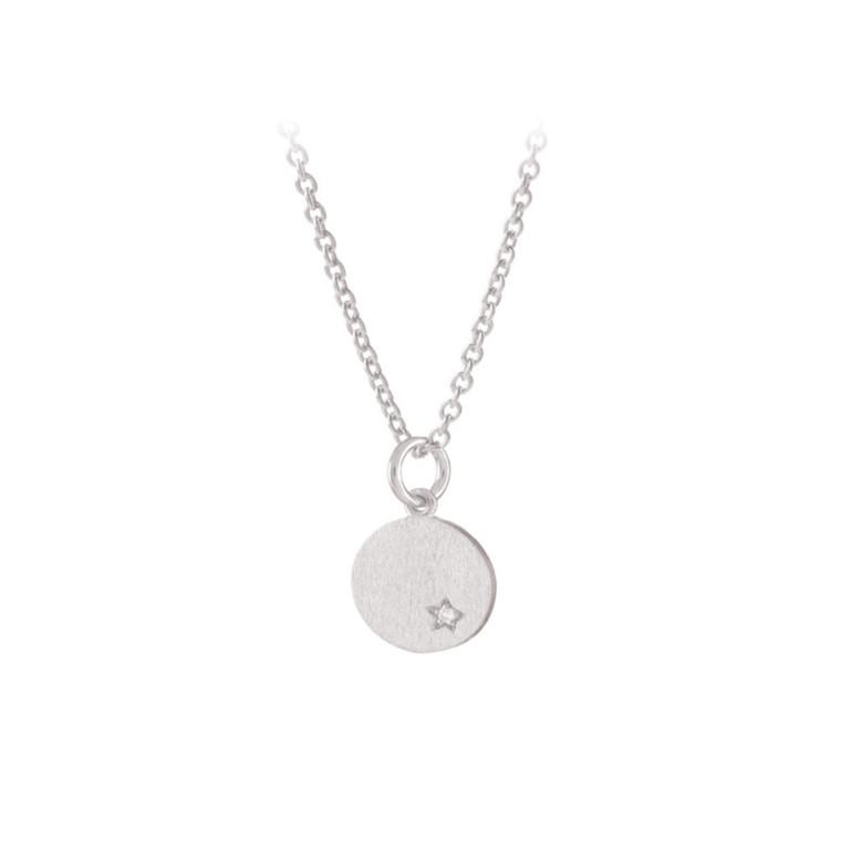Pernille Corydon Halskæde Diamond Coin Sølv