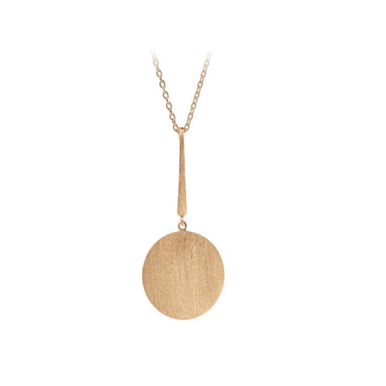 Pernille Corydon Lang Coin Halskæde Guld
