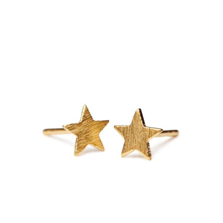 Pernille Corydon Ørestikker Small Star Guld