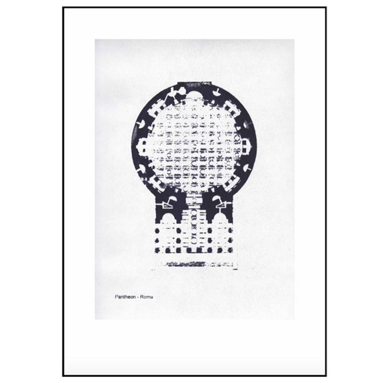 Pernille Folcarelli Plakat Pantheon Roma 50x70