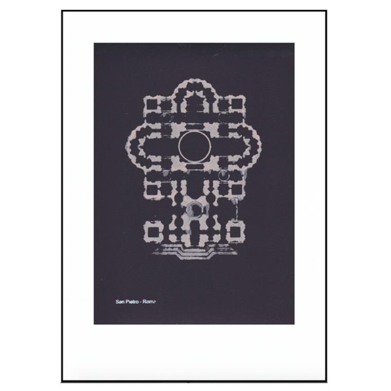 Pernille Folcarelli Plakat San Pietro Roma 50x70
