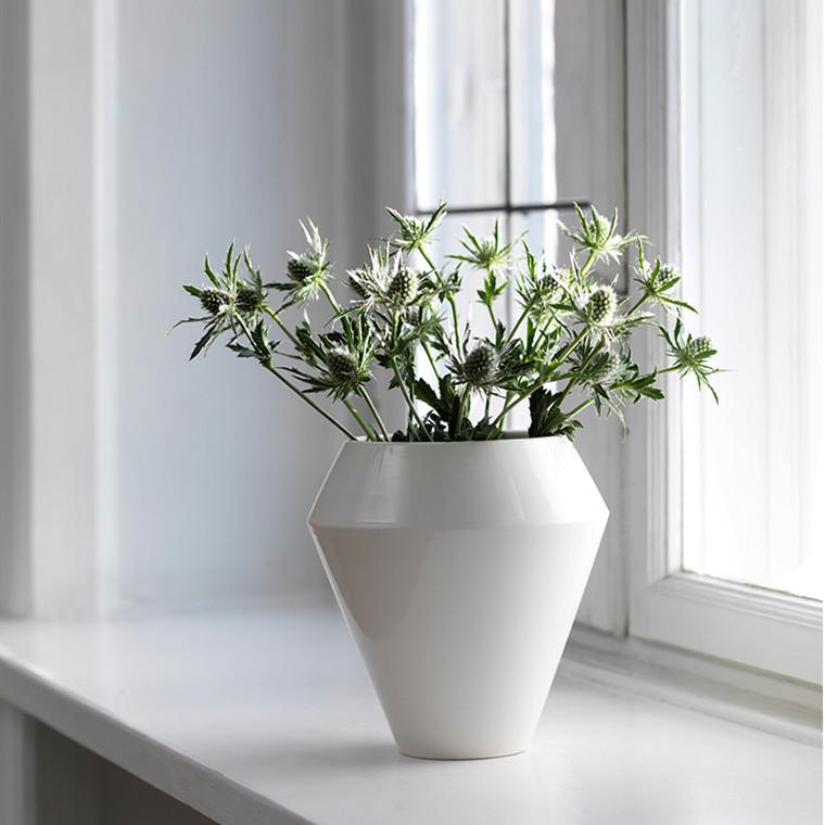 By Lassen Rimm vase høj Hvid