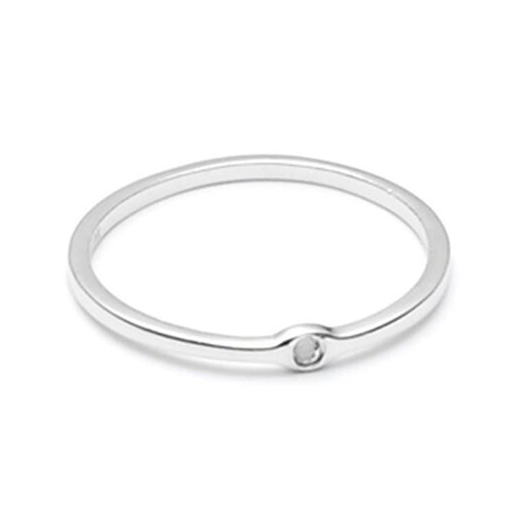 Louise Kragh Small Raw Diamond Ring Sølv