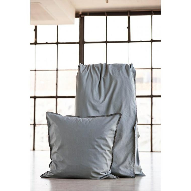 SemiBasic Sengetøj grå med grå kant 140 x220 cm